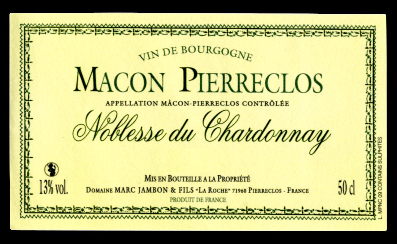 Noblesse du Chardonnay Domaine Marc JAMBON et Fils