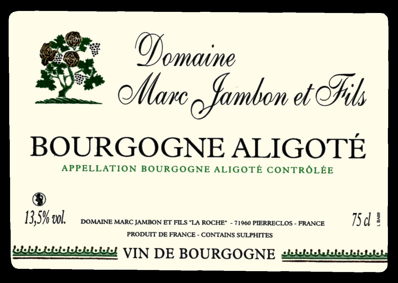Bourgogne aligote Domaine Marc JAMBON et Fils