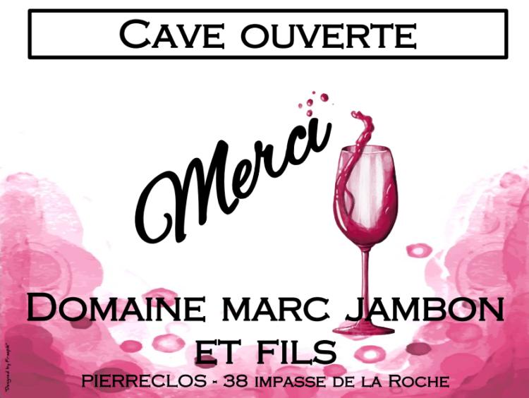 Remerciements portes-ouvertes Domaine Marc JAMBON et Fils - Mâcon-Pierreclos