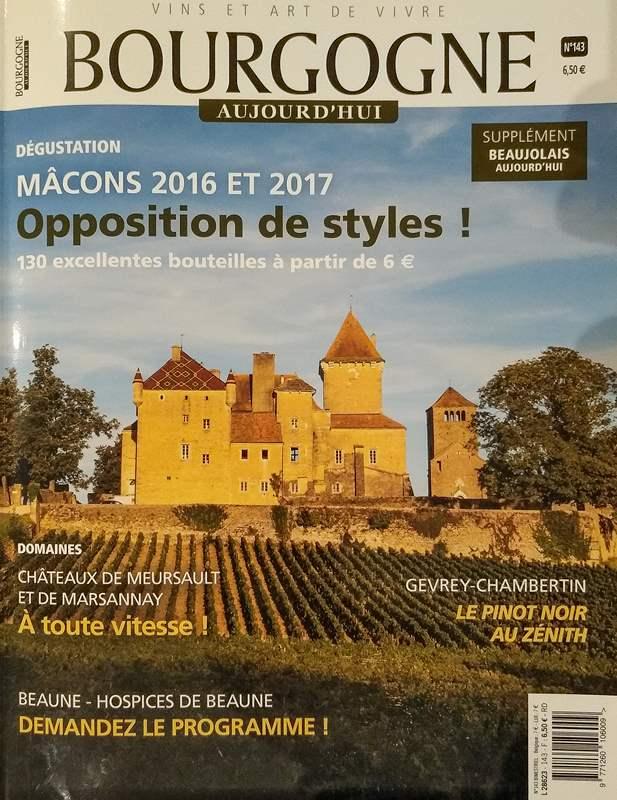 Mâcon-Pierreclos Rouge cuvée classique 2016 Domaine Marc JAMBON et Fils - Bourgogne Aujourd'hui 143