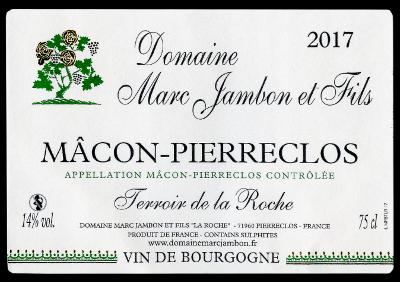 Macon-Pierreclos Blanc Terroir de la Roche Domaine Marc JAMBON et Fils