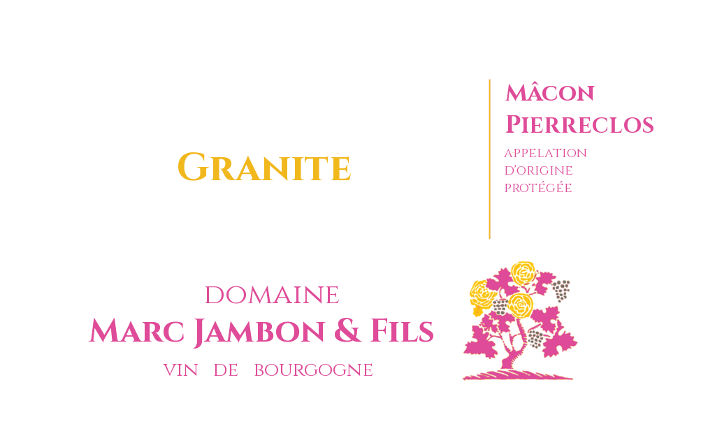 """Mâcon-Pierrelos rosé """"GRANITE"""" 2018 - Domaine Marc JAMBON et Fils"""