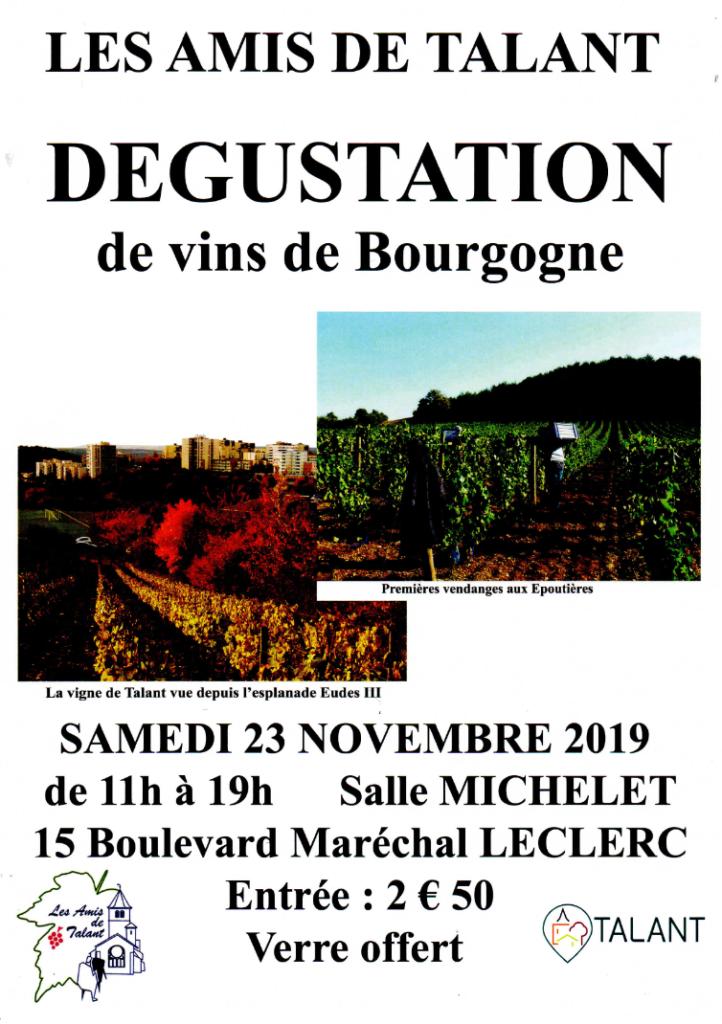Les Amis de Talant 2019 - Dégustation des Vins de Bourgogne